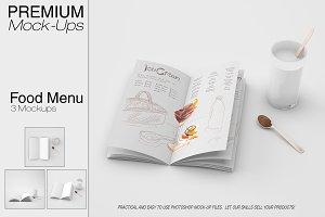 Food & Drink Menu Mockup Set