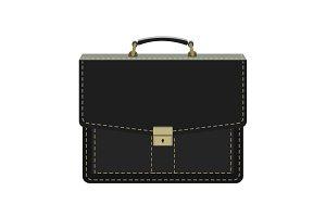 Portfolio, black briefcase