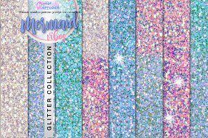 Mermaid vibes glitter collection