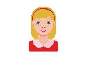 Girl, schoolgirl. Portrait