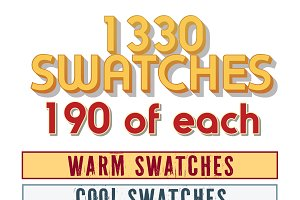 1330 Swatches 190ea of 7 categories