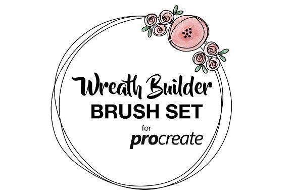 Wreath Builder Brush Set Procreate