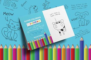 Super Coloring Rainbow Book for Kids