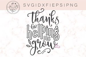 Thanks for helping me grow SVG DXF