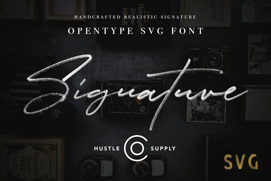 Best JV Signature SVG - Opentype SVG Vector