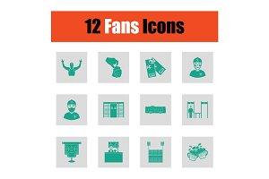 Fans icon set