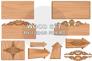 Wooden Board vector illustrations