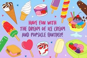 Yummy Ice Cream and Parfait