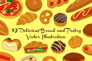 Tasty Bread & Pastry Illustration