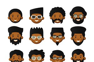 African men avatars set