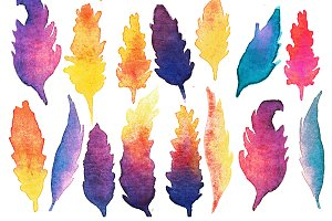 Feather Watercolor Silhouette