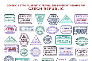 Czech Republic visa passport stamps