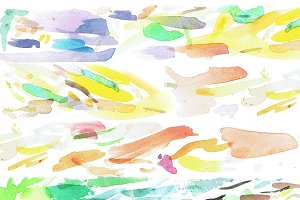 Abstract Colorful Watercolor Brush