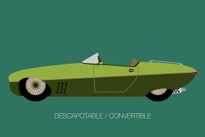 convertible classical car side view