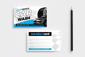 Car Wash Member Card Template