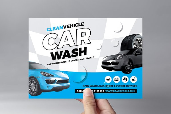 Car Wash Flyer Template Creative Flyer Templates