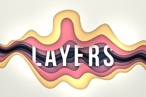 Layered abstract backgrounds