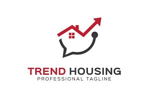 Trend Housing logo Template