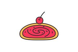Cherry strudel color icon