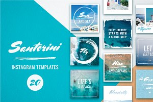 Santorini Instagram Template Pack