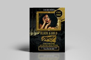 Black & Gold Flyer Template - V805