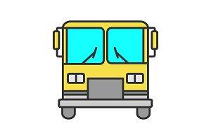 Bus color icon