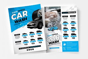 A4 Car Wash Poster Template