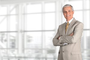 Mature Businessman Light Suit