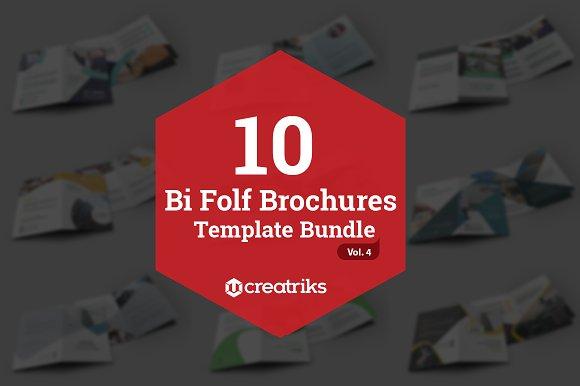 10 Bi Fold Brochures Bundle - Vol. 4