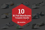 10 Bi Fold Brochures Bundle - Vol. 4