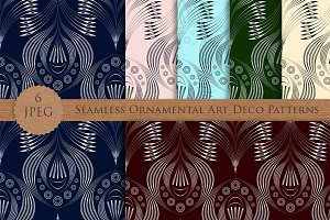 Seamless pattern modern Art Deco