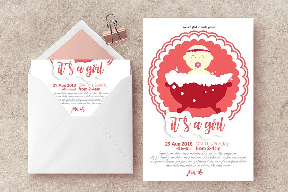 baptism card template 2 layouts invitation templates creative market