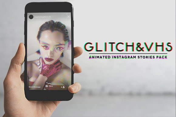Glitch VHS Animated Stories Pack