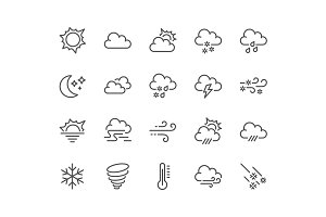 Line Weather Icons
