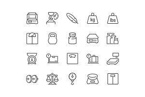 Line Weight Icons Icons