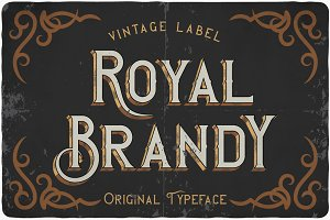 Royal Brandy typeface