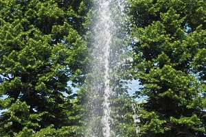 fountain jet of water