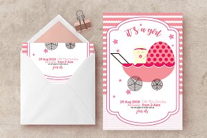 Baby Shower Invite Card Template