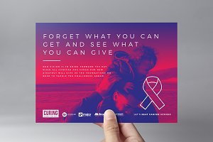 Cancer Charity Flyer Template v2