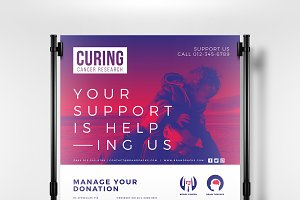 Cancer Charity Poster Template