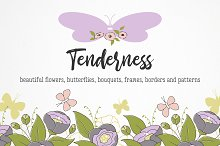 Tenderness, set of illustrations