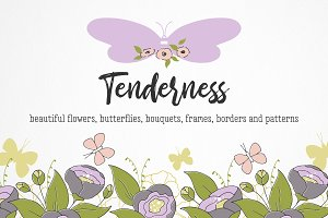 Tenderness, set of illustrations
