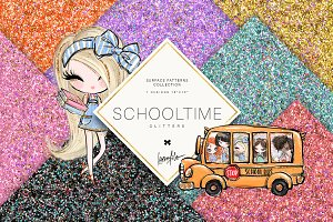 Back to School Glitter Textures