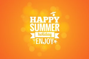 Summer holiday design background.