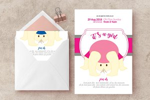 Baptisam Sunday Invite Card Template