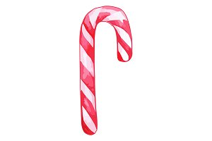 Christmas candy cane lollipop vector