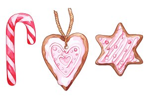 Christmas gingerbread candy vector