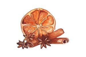 Lemon cinnamone still life vector