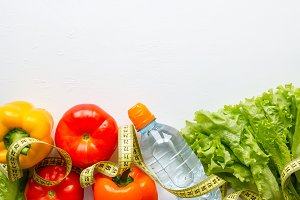 vegetables, water, concept diet
