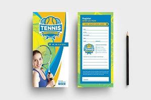 Tennis DL Rack Card Template